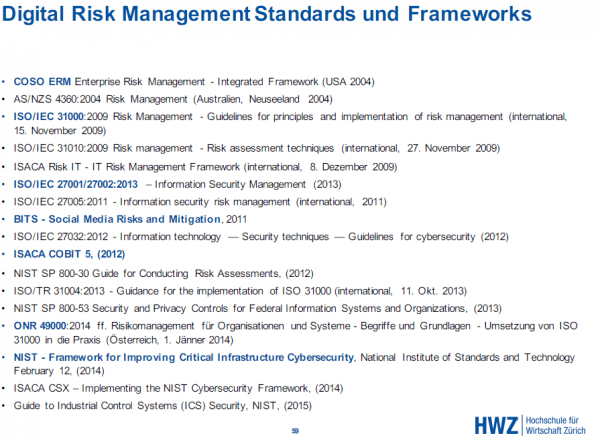 standards und frameworks